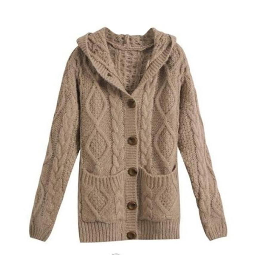 New Fashion Cardigans Sweater Women Cotton Knitted Cardigan ...