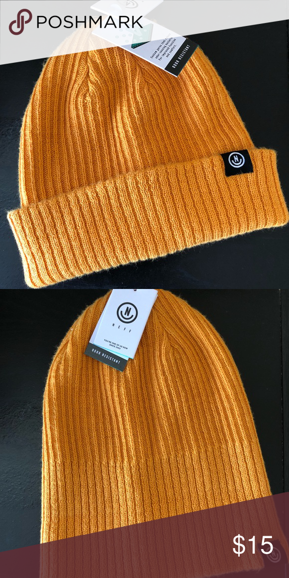 1506b1b8aac Neff Gold Fisherman Beanie NWT Great fall color. NWT Accessories Hats