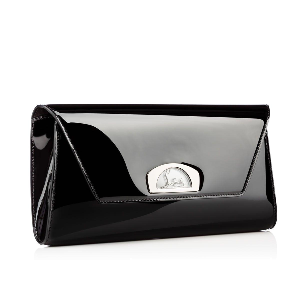 Vero Dodat black patent leather clutch Christian Louboutin vlTTzwTTk