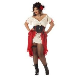 womens cantina gal saloon plus size halloween costume