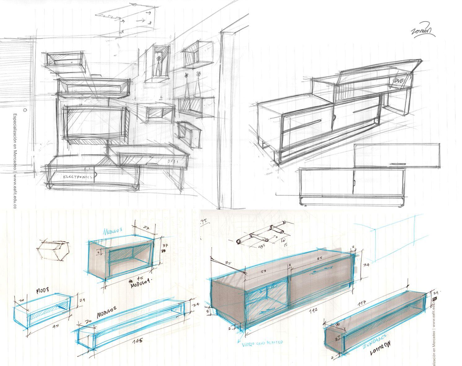 Medidas Mueble De Tv Buscar Con Google Sketch Arquitectura  # Muebles Google Sketchup