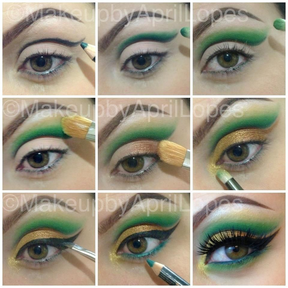 A green cut crease by makeup by april using bfte cosmetics green tutorial on green eye makeup tutorial by sophie wang check out more makeup on bellashoot baditri Image collections