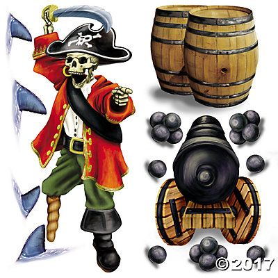 Design-A-Room Pirate Captain Backdrop Set Sofi  Jazz\u0027s Pirate - halloween scene setters decorations