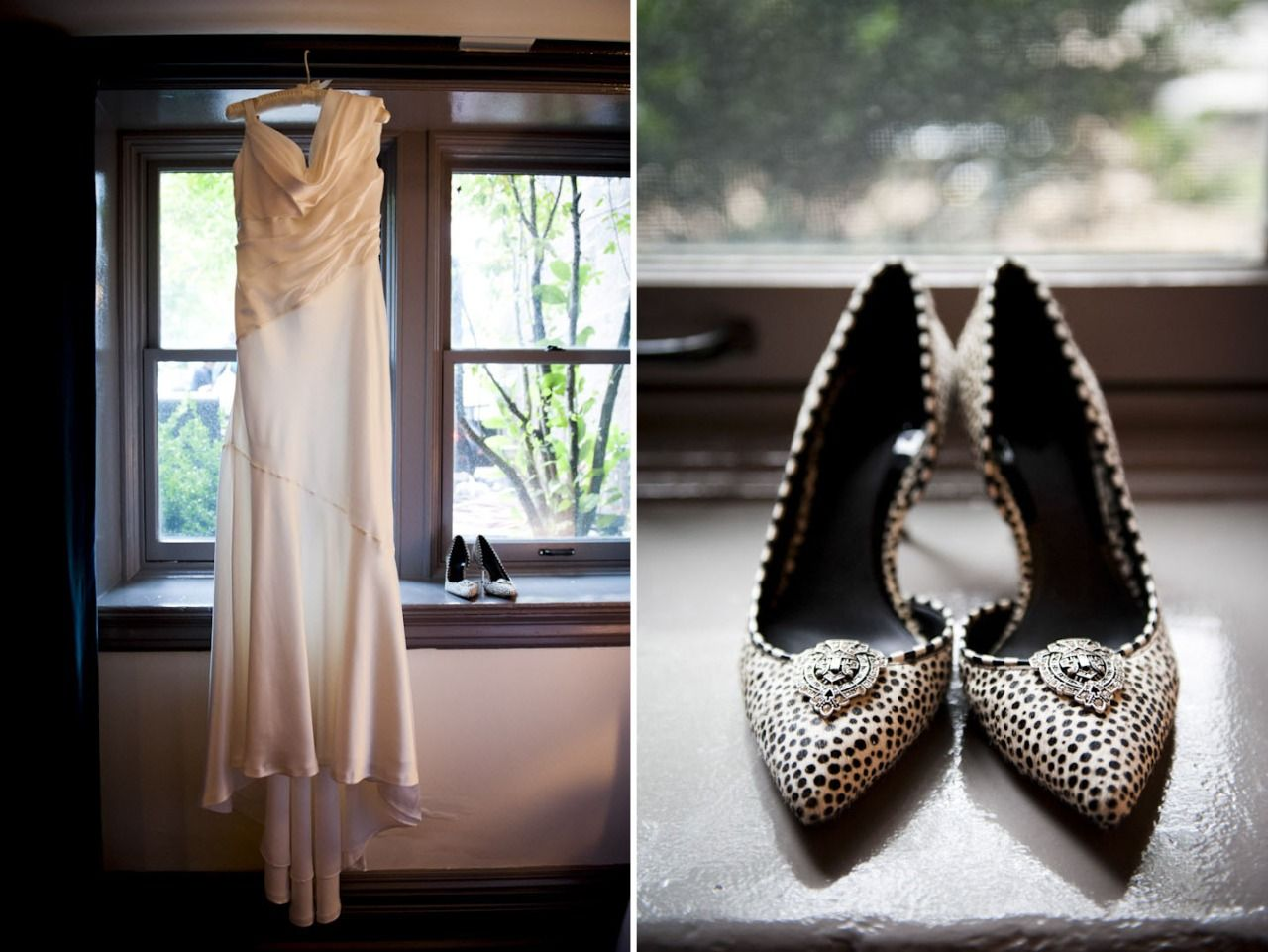 Wedding dress with black shoes  Love this brideus s glam wedding dress and black and white shoes