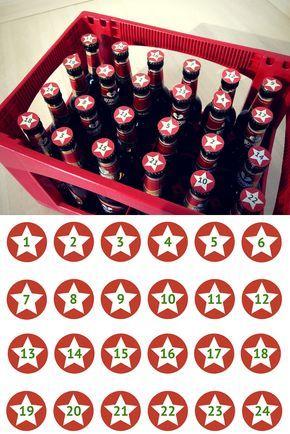 Bier Weihnachtskalender.Adventskalender Fur Manner Top 25 Free Printable