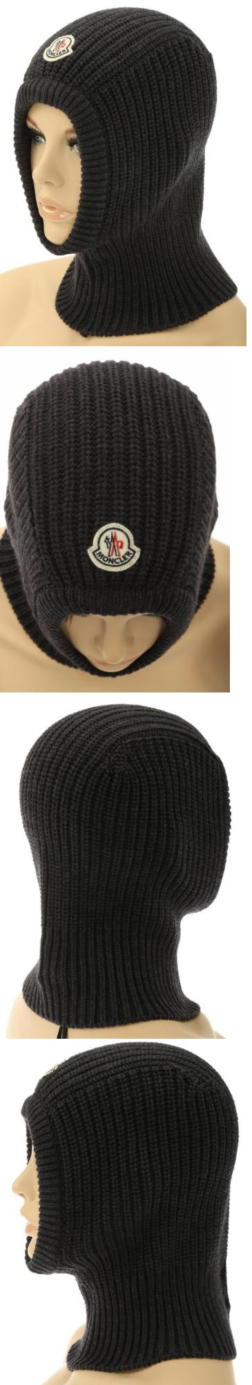 8bbf29f6edf Hats 45230  New Moncler Ladies Knit Gray Wool Logo Balaclava Ski Snow Mask  Hat One Size -  BUY IT NOW ONLY   79.99 on eBay!