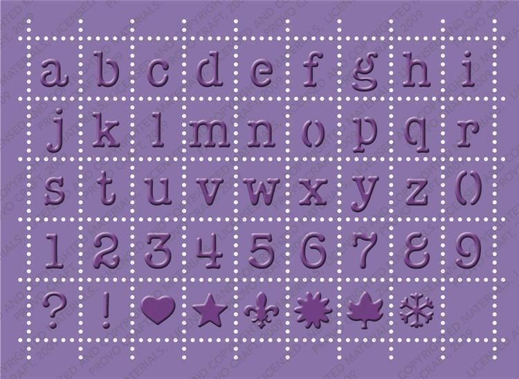 Brand New Cuttlebug Postage Alphabet Embossing Plus Cuttlebug