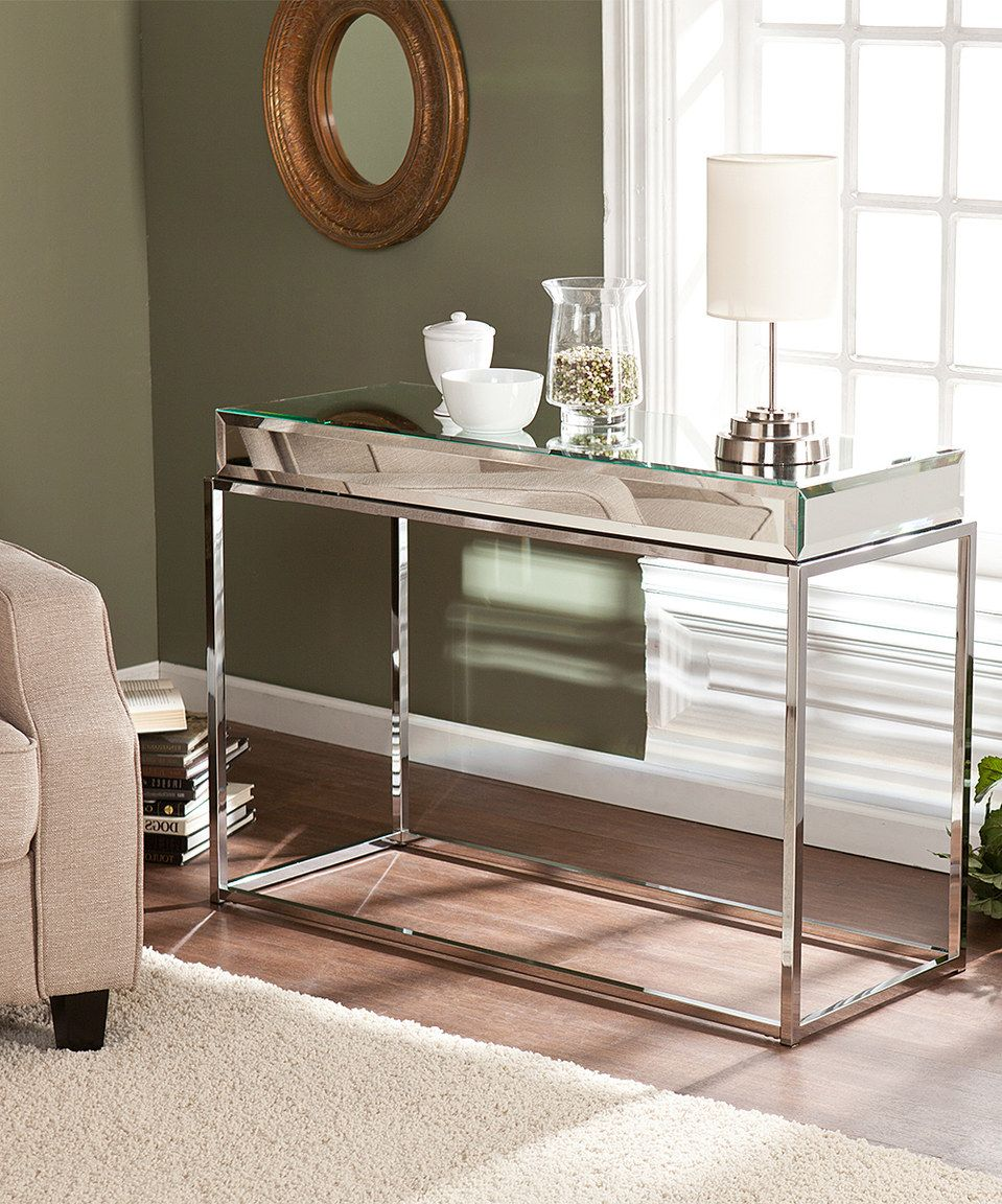 Love this Dana Mirrored Console Table by Southern Enterprises on
