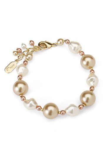 Pink Pearl Bracelet Bisuter 237 A Pulseras Pulseras Y