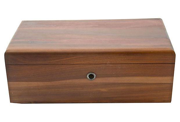 One Kings Lane - Witty u0026 Urbane - Midcentury Lane Cedar Box  sc 1 st  Pinterest & I have this small cedar box itu0027s a keepsake! Midcentury Cedar Box ...
