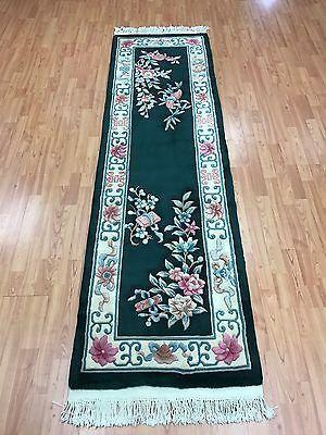 2 3 X 7 8 Chinese Aubusson Floor Runner Oriental Rug Hand Made 100 Wool