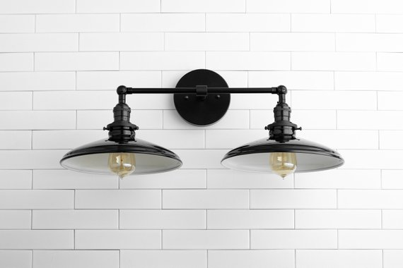 Vanity Lighting Steampunk Wall Lamp Farmhouse Lighting Black