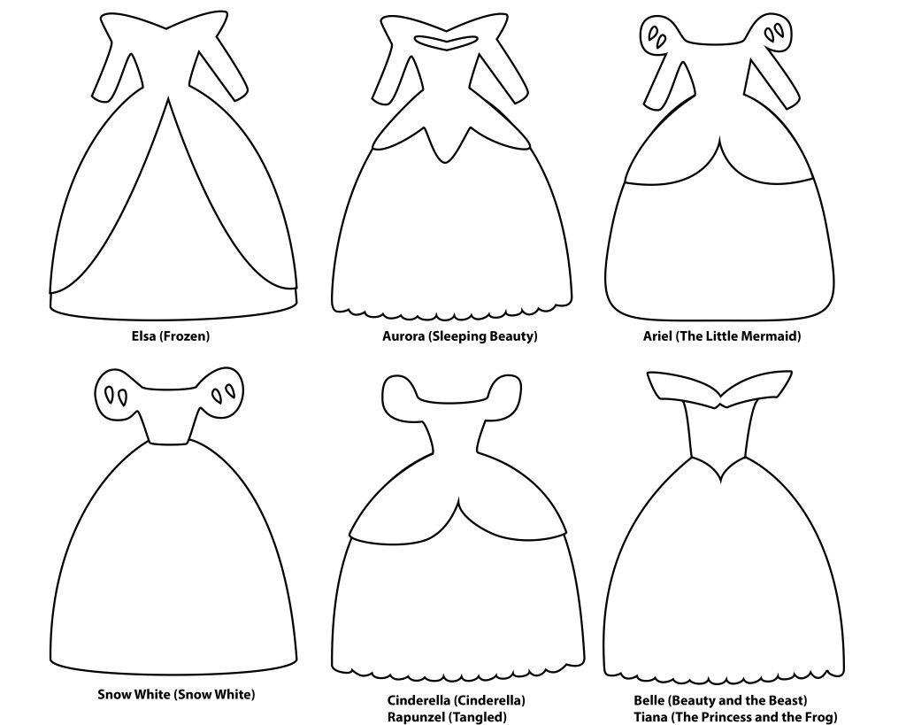 Disney Princess Dress Paper Templates