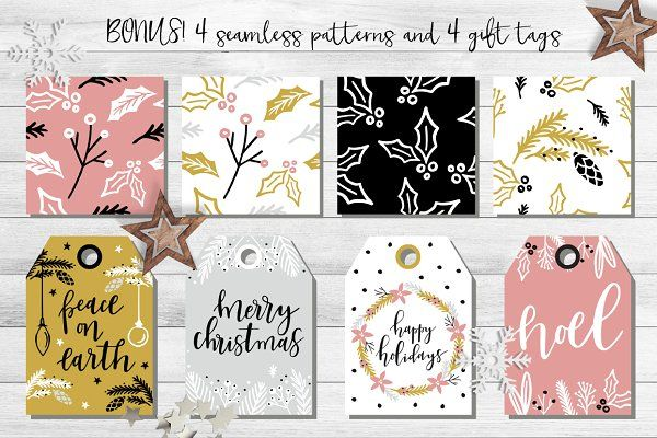 Christmas overlays: Quotes & Clipart by lo kko studio on @creativemarket