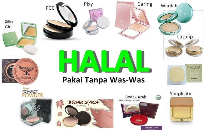 Popular South East Asian Halal MakeUp brands,
