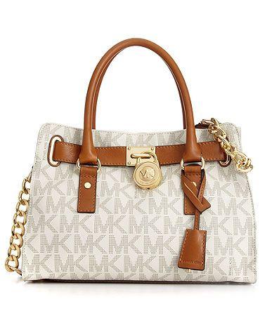 MICHAEL Michael Kors Handbag, Hamilton Signature Satchel - All Handbags -  Handbags \u0026 Accessories - Macy\u0027s