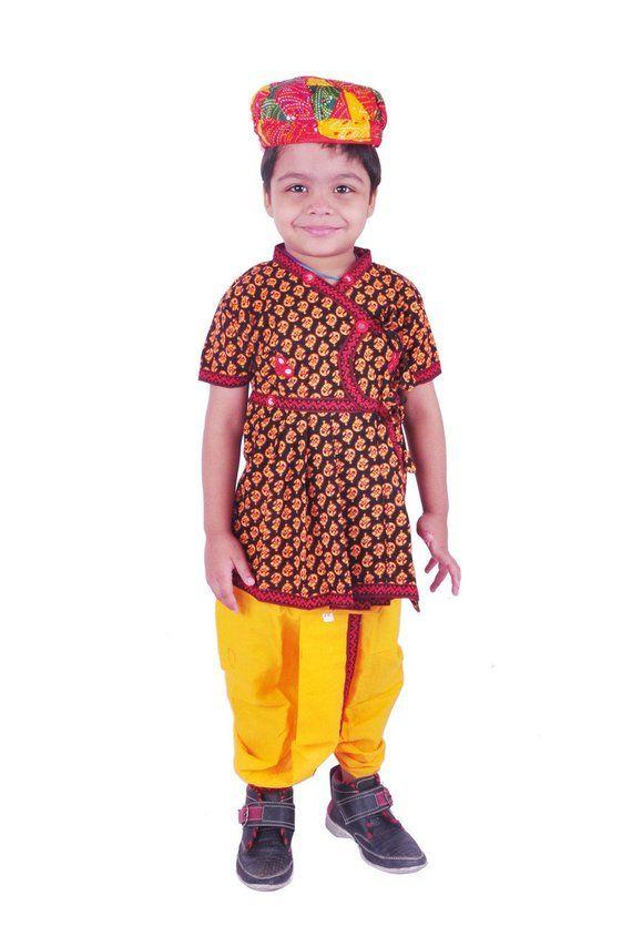 d7697f89 Boy's Dhoti Kurta & Turban, Indian Traditional, Ethnic, Handmade ...