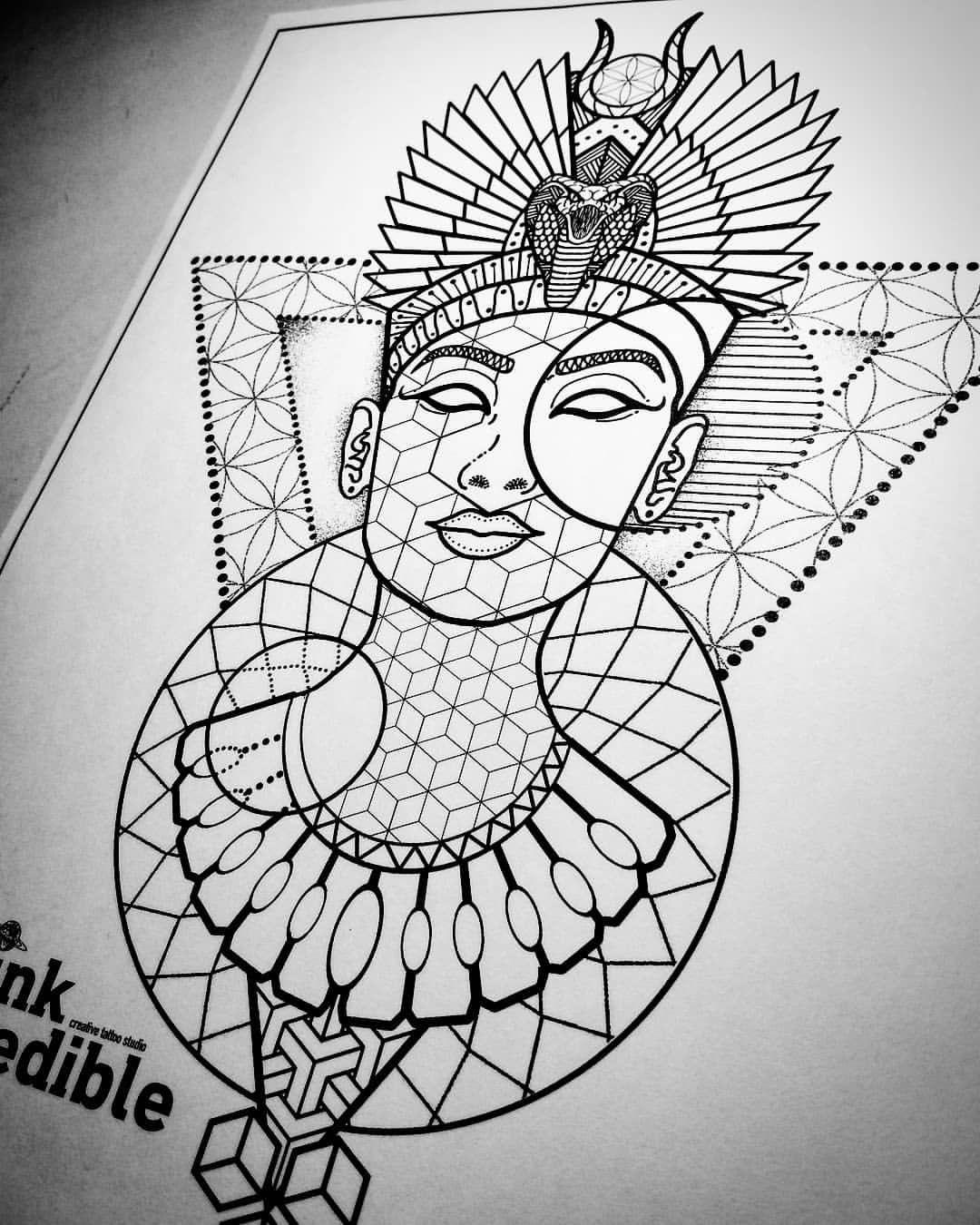 "Black Nefertiti Drawing : black, nefertiti, drawing, Inkredible, Instagram:, ""Available, Design, Nefertiti, #tattoo, #tattoodesign, #dotsandlines, #dots, Tattoo, Outline, Drawing,, Egyptian, Drawings,"