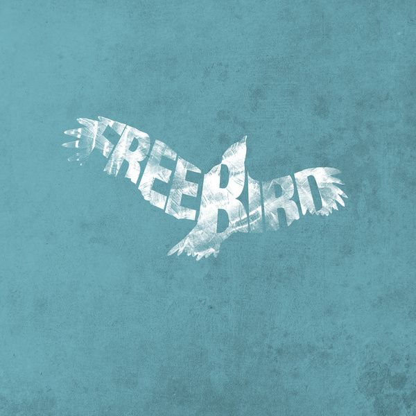 freebird art print typography logos and typography inspiration. Black Bedroom Furniture Sets. Home Design Ideas