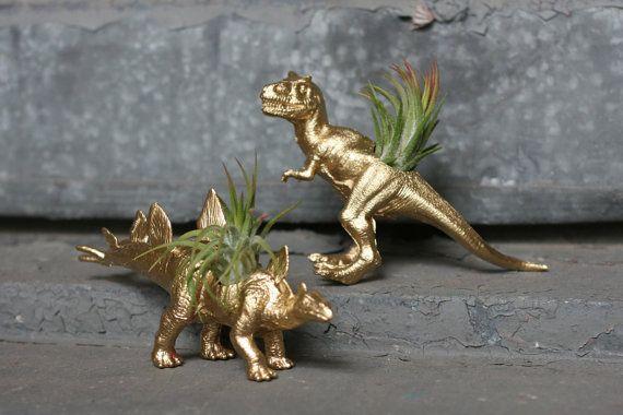 Dinosaur Planter 2x TILLANDSIA-SAURUS T-Rex by TheGnakedGnome