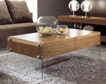 modern floating coffee table with glass legs | Журнальные столики