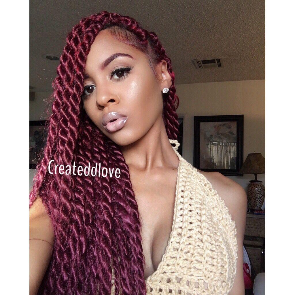 red jumbo twist   createdlove   pinterest   hair style, protective