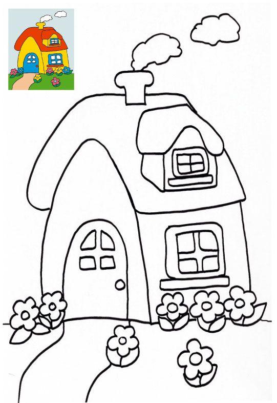 Dessin colorier maison du pere noel gratuit maison de - Dessin de maison facile ...