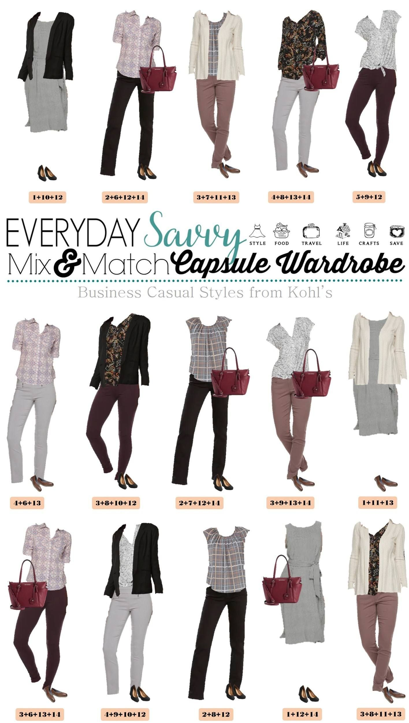 Ladies Business Casual Fall Outfits Mix And Match Capsule Fall