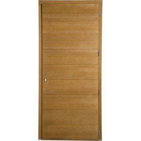 Porte d\u0027entrée bois Chambery PRIMO poussant droit, H215 x l90 cm - pose d une porte d entree