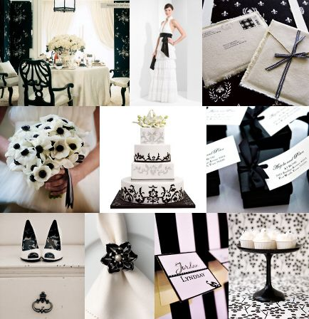 Classic Black and White Wedding Inspirations | Theme ideas ...