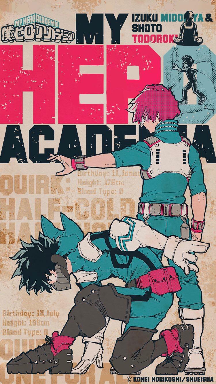 Todoroki And Izuku Wallpaper My Hero My Hero Academia Episodes Hero Wallpaper