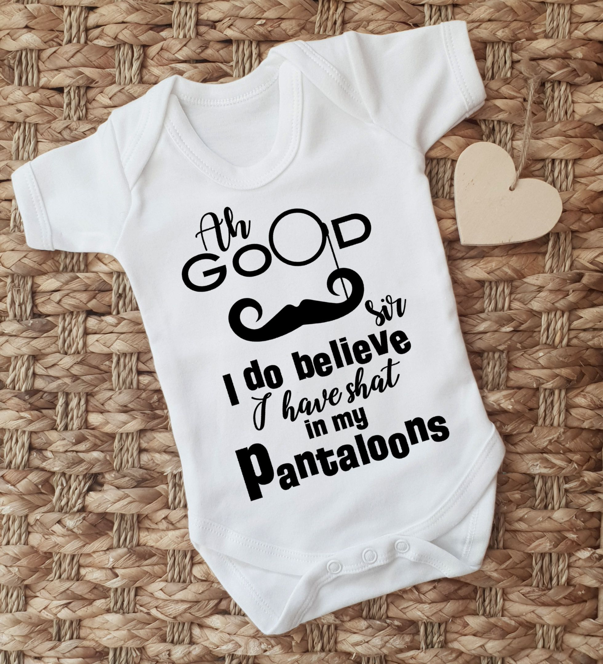 0408ecf8cb3 Ah good sir I do believe I have shat in my pantaloons white bodysuit vest  baby grow. by MumKnowsBabyGrows on Etsy