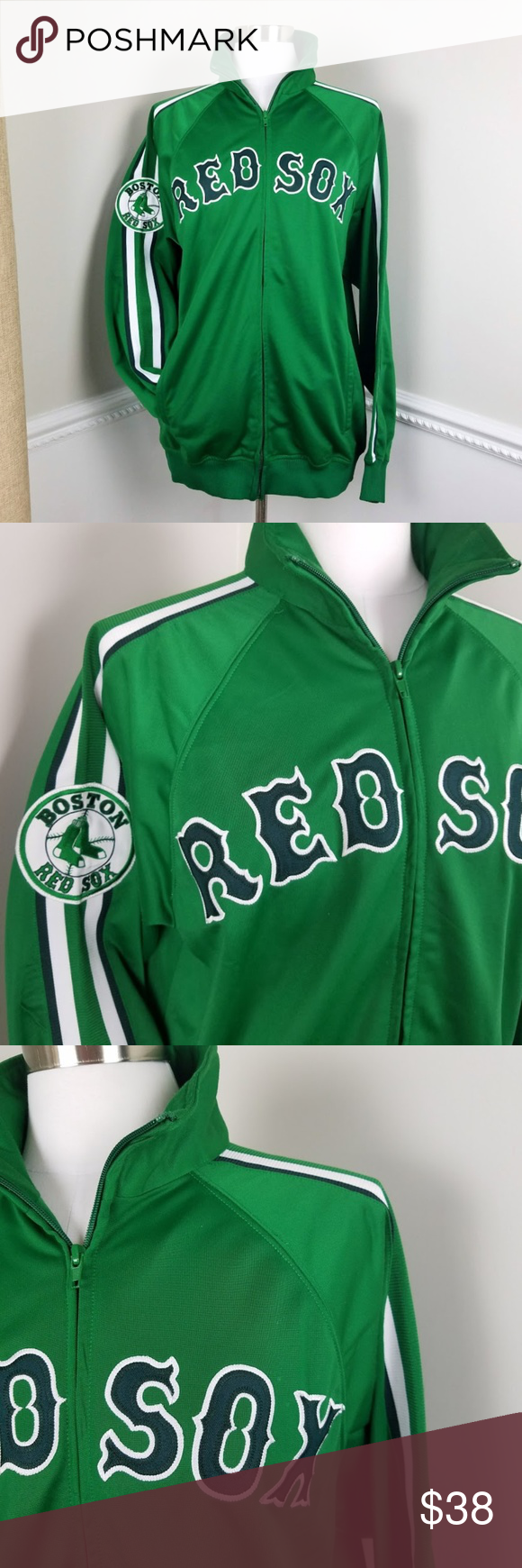 Stitches Athletic Gear Green Red Sox Track Jacket Stitches Athletic