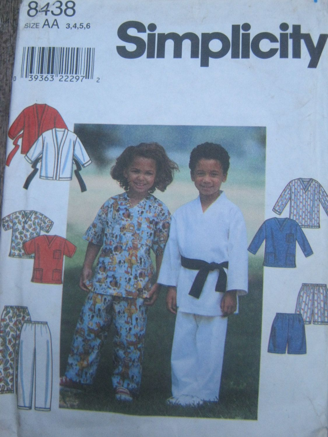 Sewing Pattern for Kids Scrubs, Martial Arts Wear. Outfit, Uniform ...