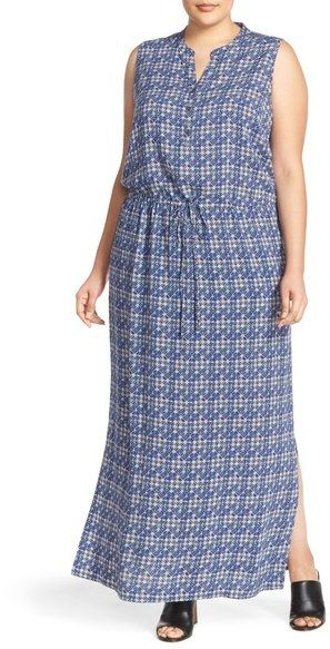 Caslon ® Sleeveless Woven Maxi Dress (Plus Size)