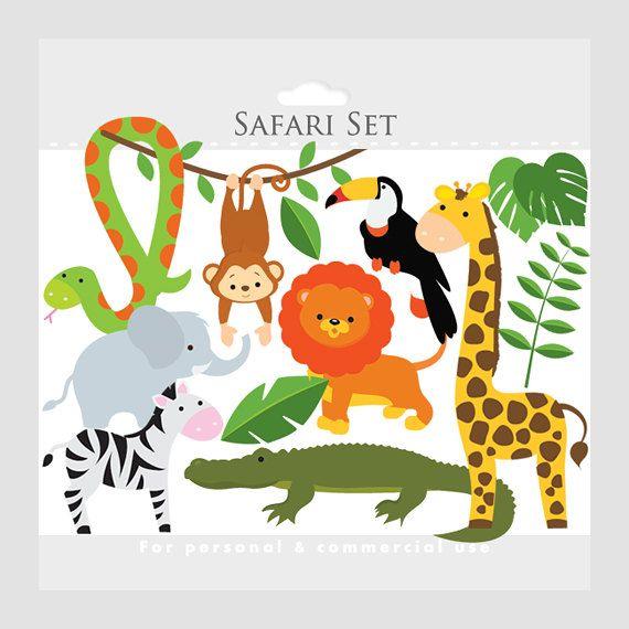 Safari Clipart Safari Animals Lion Monkey Giraffe Zebra