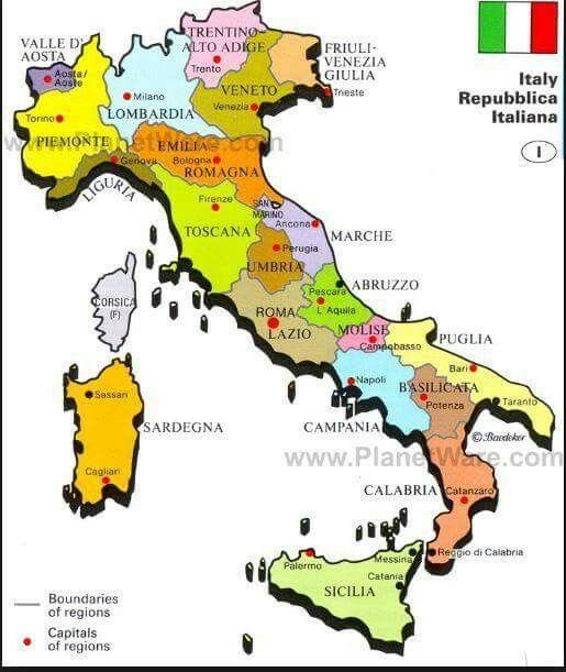 Italia Aprender Italiano Mapa De Italia Italia Cultura