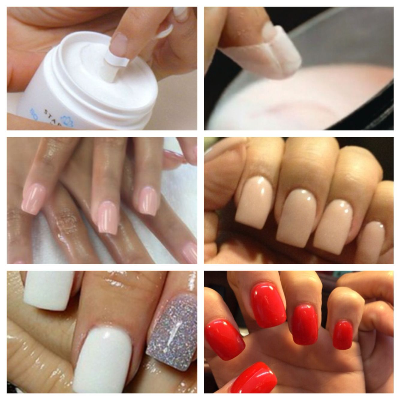 Nail Dipping With This System You Can Achieve Beautiful Acrylic Overlays On Natural Nails Or Tips And You Can A Nails Acrylic French Manicure Acrylic Overlay