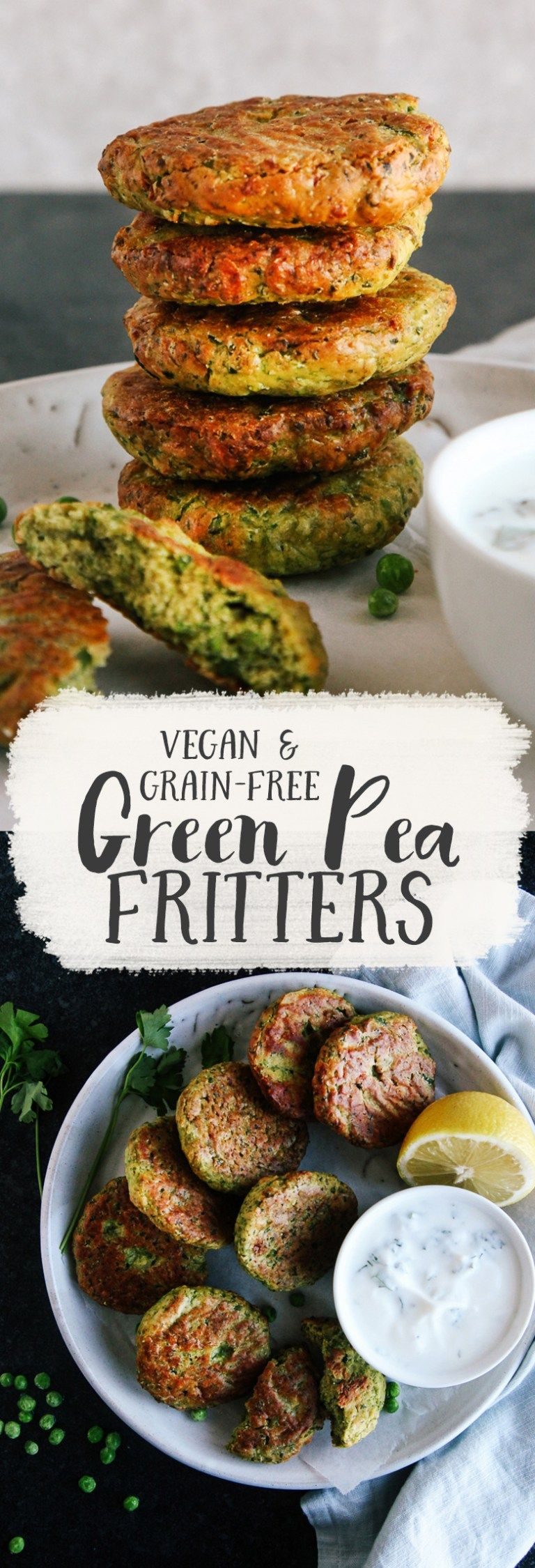 Green Pea Fritters Vegan Gf