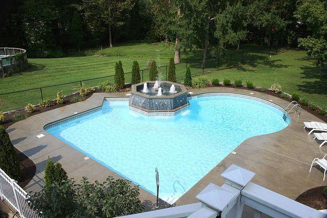 Pool Bauer stuart bauer pools louisville ky geometric pool 1