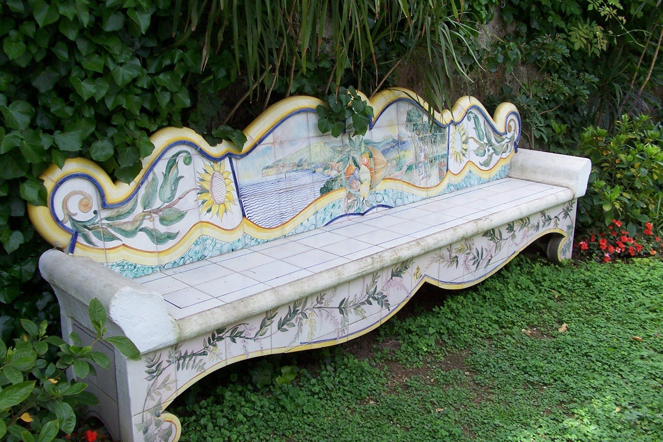 Tremendous Ceramic Bench Sorrento Italian Ceramics Gardening Spiritservingveterans Wood Chair Design Ideas Spiritservingveteransorg