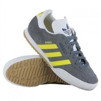 Adidas Samba Grey Yellow Trainers