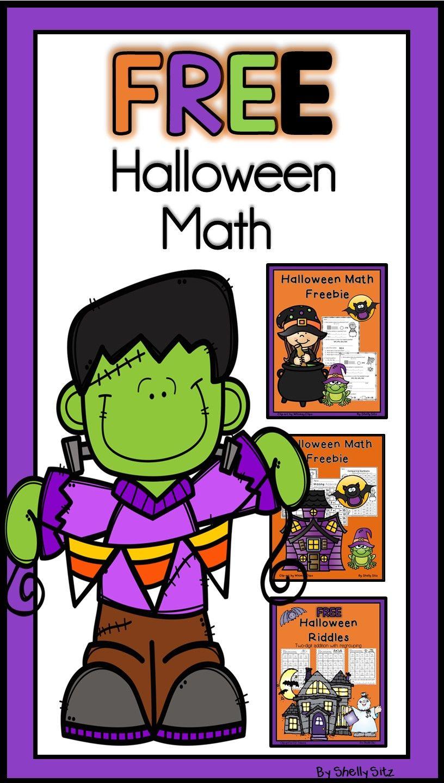 Halloween Math Freebies for Second Grade and More | Grado, Calaveras ...