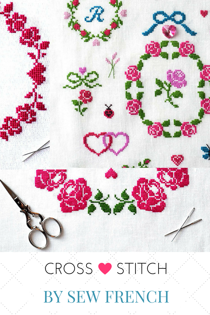Pretty Cross Stitch Patterns, Monograms & Freebies. French