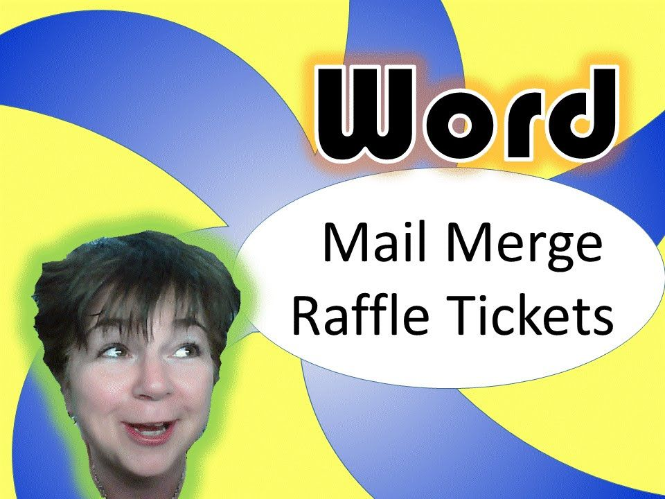 Microsoft Word Mail Merge sequentially numbered raffle or - numbered raffle ticket template free