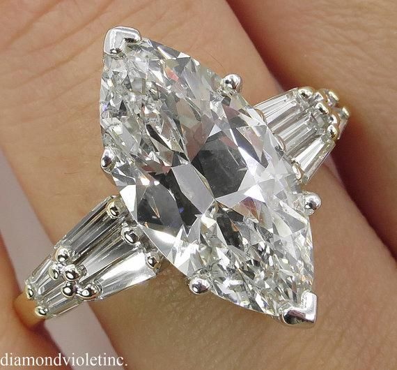 RESERVED... 5.20ct Estate Vintage Old Euro Marquise