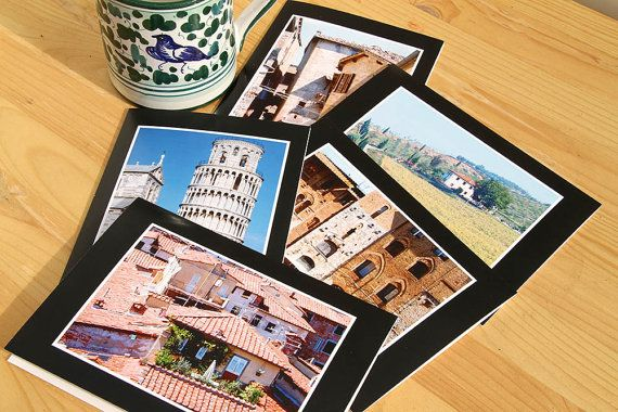 Tuscany Notecard Set of 5 Photo Greeting Cards No. by CarolaBartz