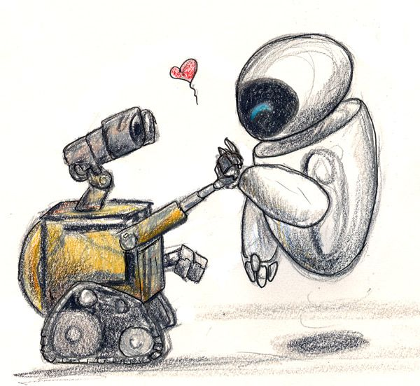 Wall E Eve Sketchiness By Silvermoonnw On Deviantart Disney Drawings Wall E Eve Disney Art Drawings