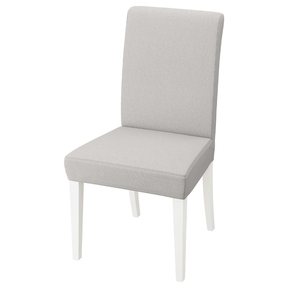 IKEA HENRIKSDAL, Chair, white, Orrsta light gray, The