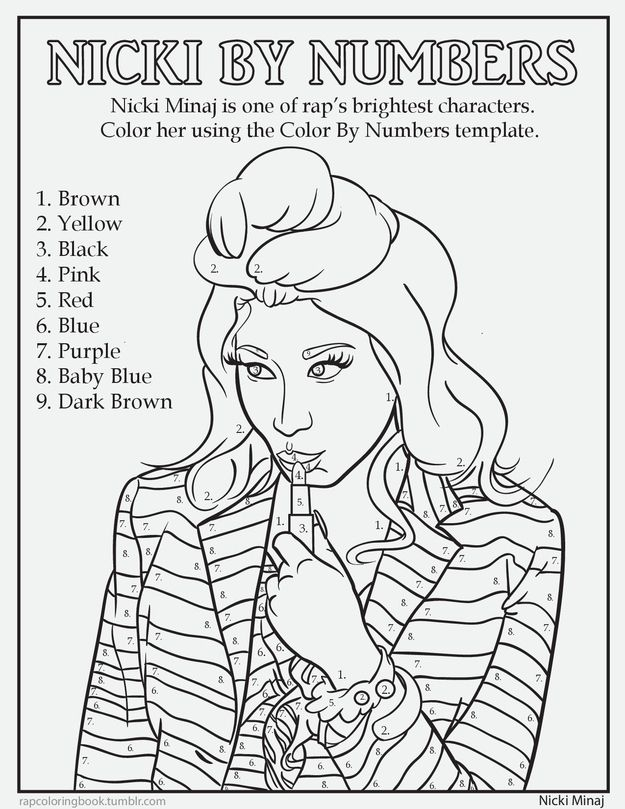Nicki Minaj 7 Delightful Pages From A Rap Coloring Book